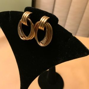 14K Gold Earrings with Diamond accents.